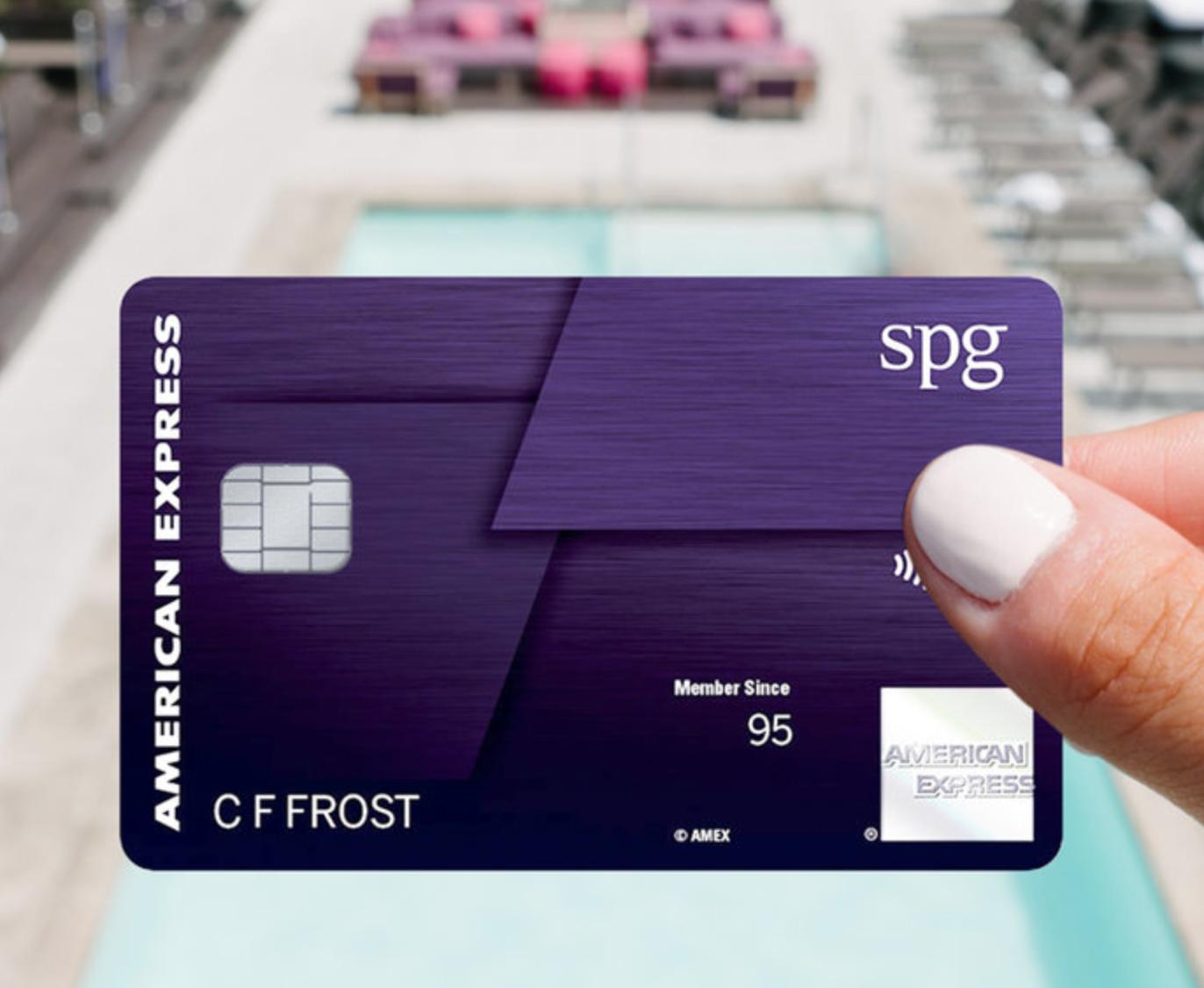 Ad credit card amex spg luxury